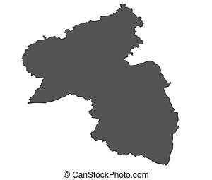 mapa,  palatin,  -, alemania, Renania