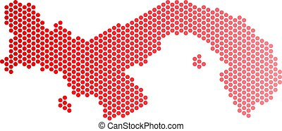mapa, panamá, rojo, punto