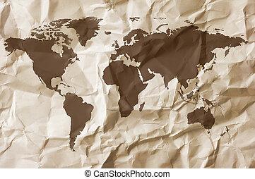 mapa, papel, fundo