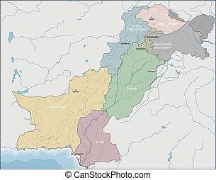 mapa, paquistán