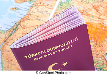 mapa, passaporte, mundo