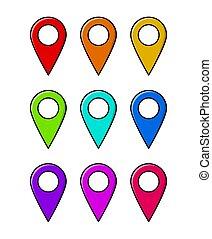 mapa patilla, aislado, vector, diseño, ubicación, blanco