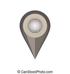 mapa patilla, símbolo, aislado, vector, diseño, ubicación, empujón, blanco, icono
