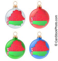 mapa, pelotas, belarusian, interpretación, 3d, navidad