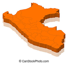 mapa, peru
