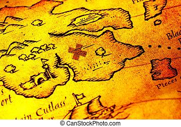mapa, piratas