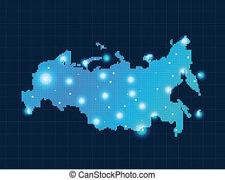 mapa, pixel, rusia