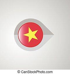 mapa, ponteiro, bandeira, vetorial, desenho, navegação, vietnã