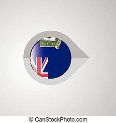 mapa, ponteiro, virgem, bandeira, vetorial, desenho, reino unido, ilhas, navegação
