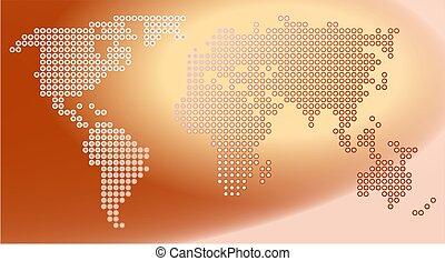 mapa, ponto