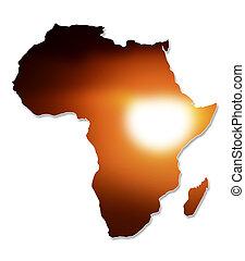mapa, projektować, afryka