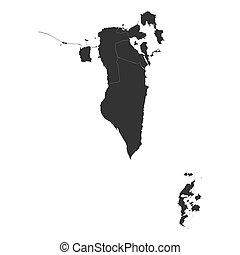 mapa, provincias, vector, diseño, su, bahrein