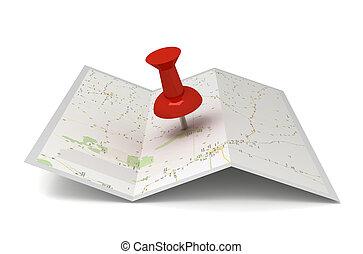 mapa, pushpin