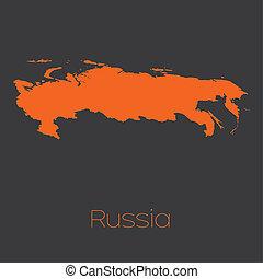 mapa, rússia, país