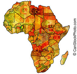 mapa, real, áfrica, benin