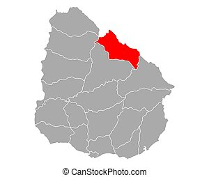 mapa, rivera, uruguay