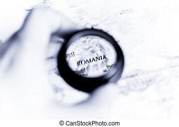 mapa, romania