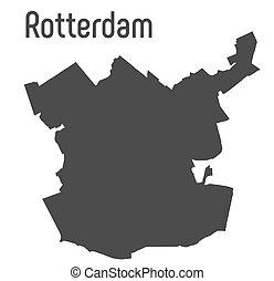 mapa, rotterdam, admin, miasto, brzegi