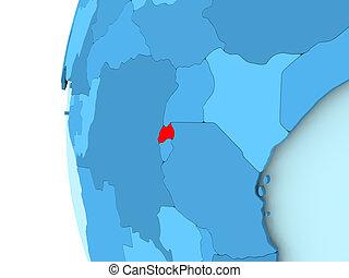 mapa, ruanda