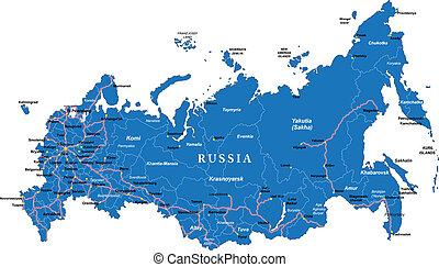 mapa, rusia