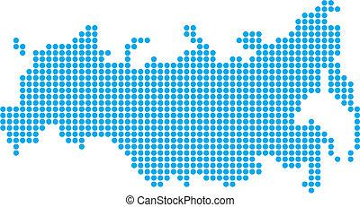 mapa, rusko, tečka