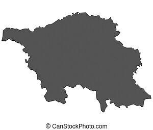 mapa,  Saarland,  -, alemania
