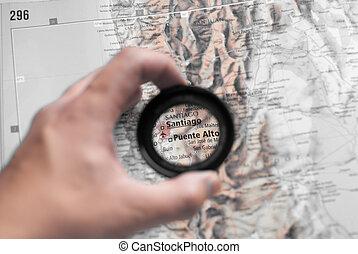 mapa, santiago
