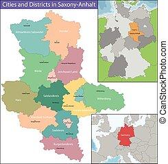 mapa, saxony-anhalt