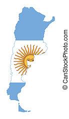 mapa, señalador de argentina
