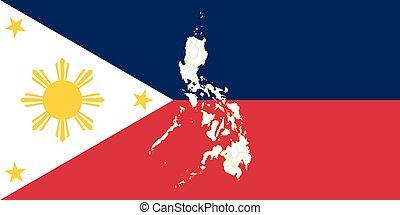mapa, señalador de philippines