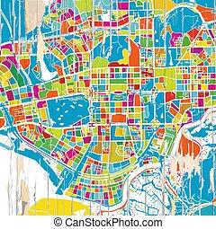 mapa, shenzen, coloridos
