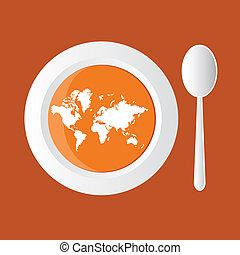 mapa, sopa