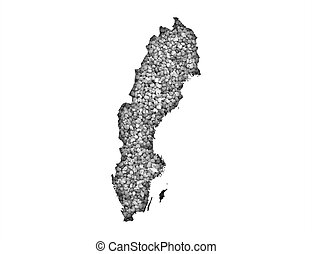 mapa, suécia
