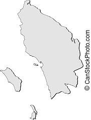 mapa, sumatra, -, norte, (indonesia)