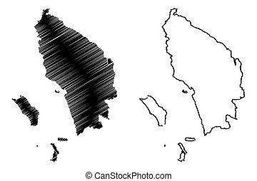 mapa, sumatra, norte
