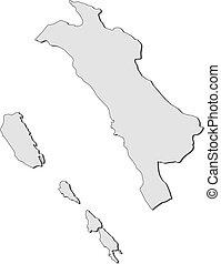mapa, sumatra, -, oeste, (indonesia)