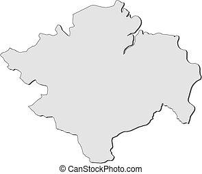 mapa, sumatra, -, sur, (indonesia)