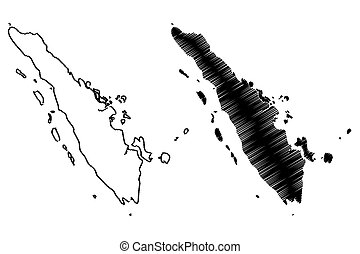 mapa, sumatra, vector