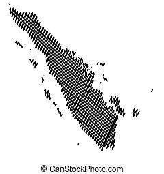 mapa, sumatra, vector, ilustración