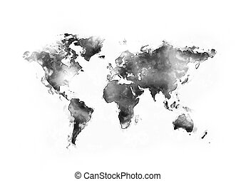 mapa světa