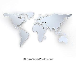 mapa světa, zatáčka