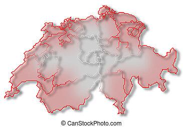 mapa, swizerland