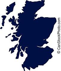Szkocja. Scotland., mapa, wektor, bandera. | CanStock