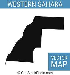 mapa, título, sahara, ocidental, vetorial