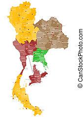 mapa, tailandia