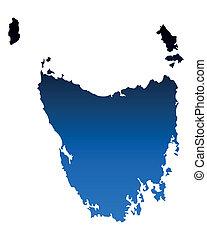 mapa, tasmania