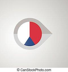 mapa, tcheco, ponteiro, bandeira, vetorial, república, desenho, navegação
