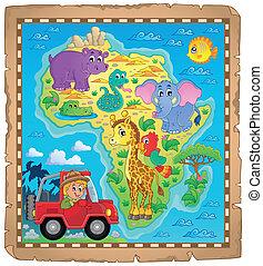 mapa, tema, áfrica, imagem, 4