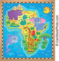 mapa, tema, 2, áfrica, imagem