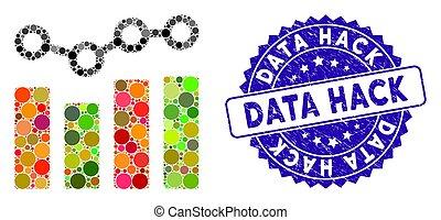 mapa, tendência, ícone, corte, selo, mosaico, dados, arranhado